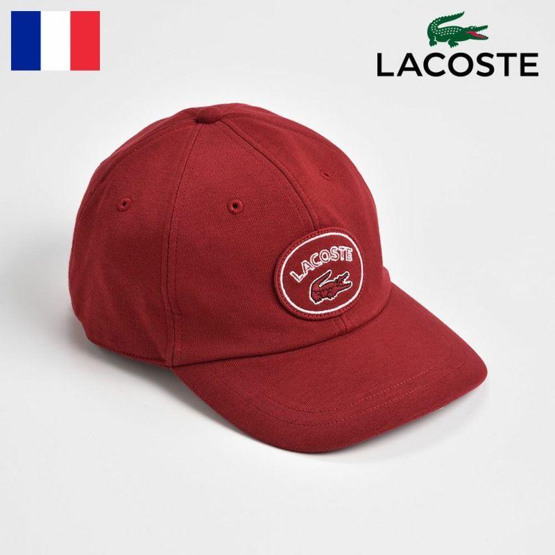 帽子 キャップ LACOSTE(ラコステ) COTTON JERSEY CAP(コットンジャージーキャップ) L7030 レッド