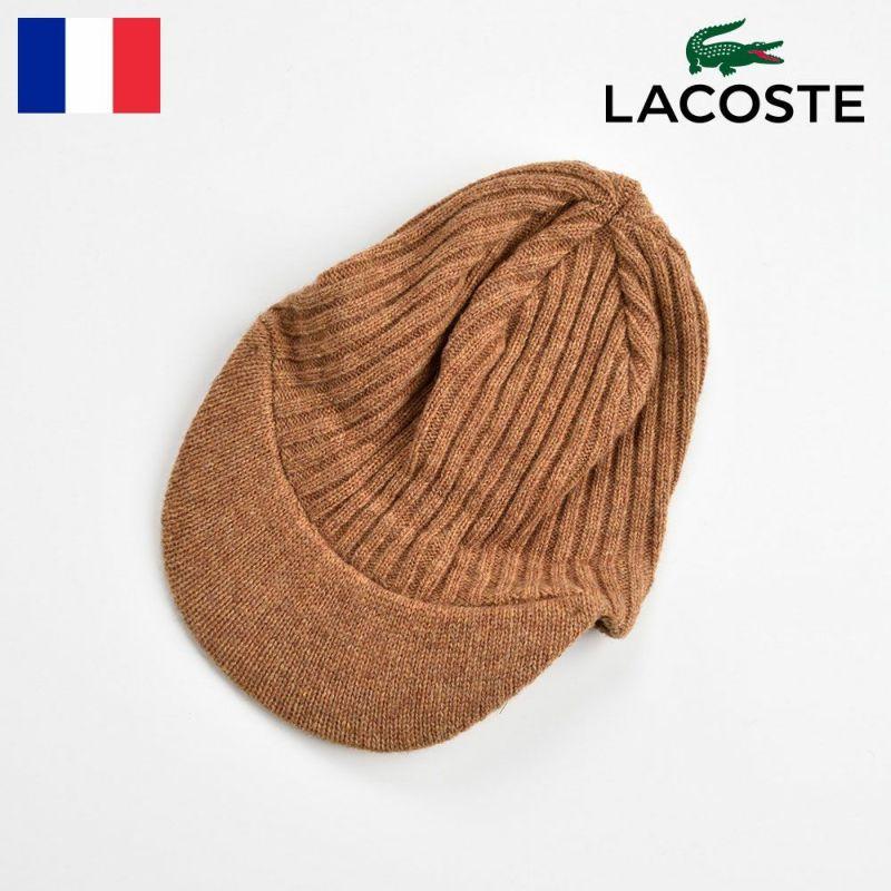 帽子 ニット LACOSTE(ラコステ) LAMB WOOL KNIT CAP(ラムウール ニットキャップ) L7038 マスタード