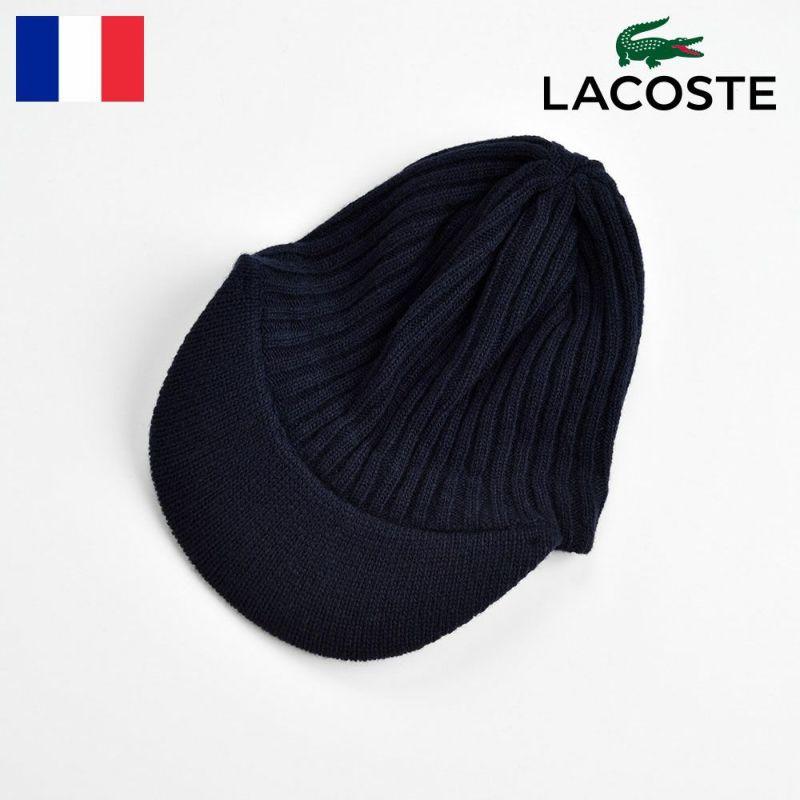 帽子 ニット LACOSTE(ラコステ) LAMB WOOL KNIT CAP(ラムウール ニットキャップ) L7038 ネイビー