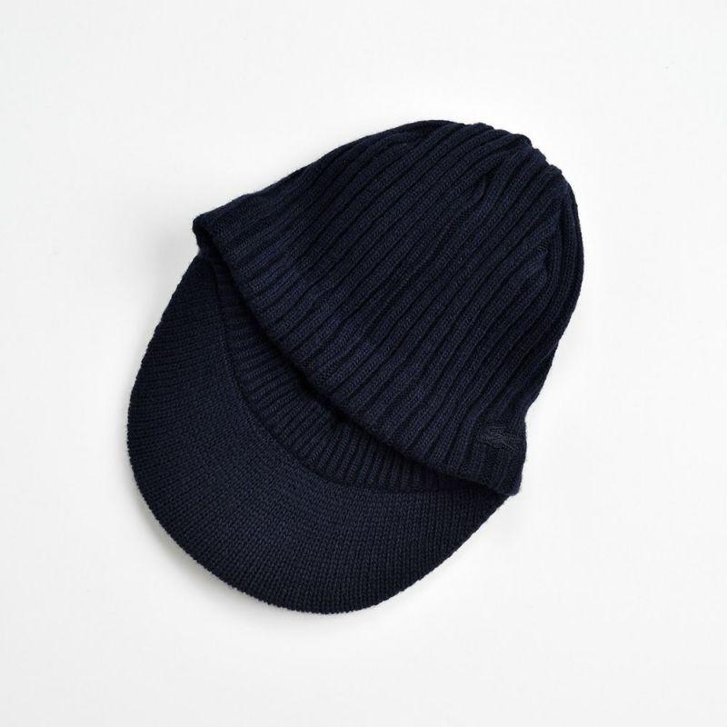 LAMB WOOL KNIT CAP(ラムウール ニットキャップ) L7038 ネイビー