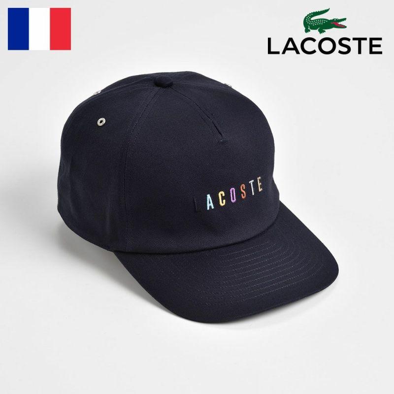帽子 キャップ LACOSTE(ラコステ) COTTON 5PANEL CAP(コットン 5パネルキャップ) L1116 ネイビー