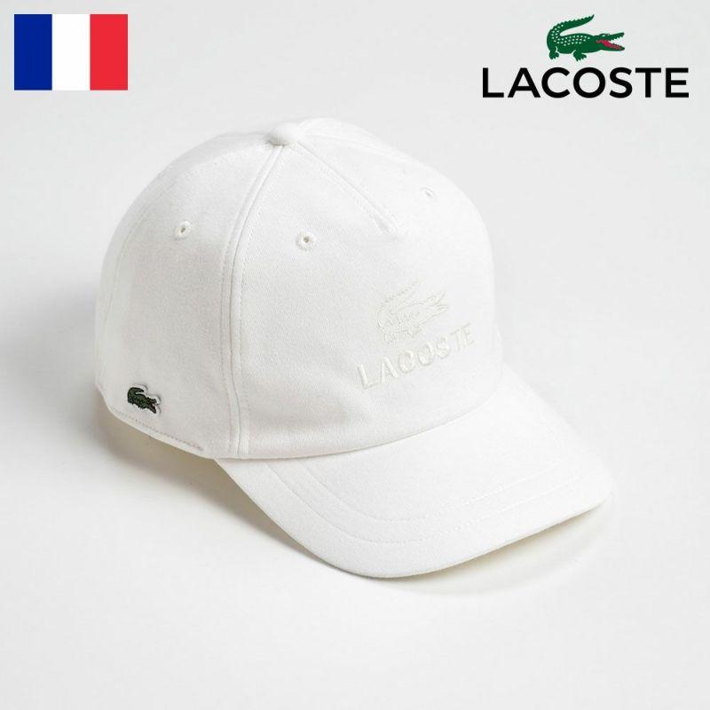 帽子 キャップ LACOSTE(ラコステ) コットン天竺キャップ L1122 オフホワイト