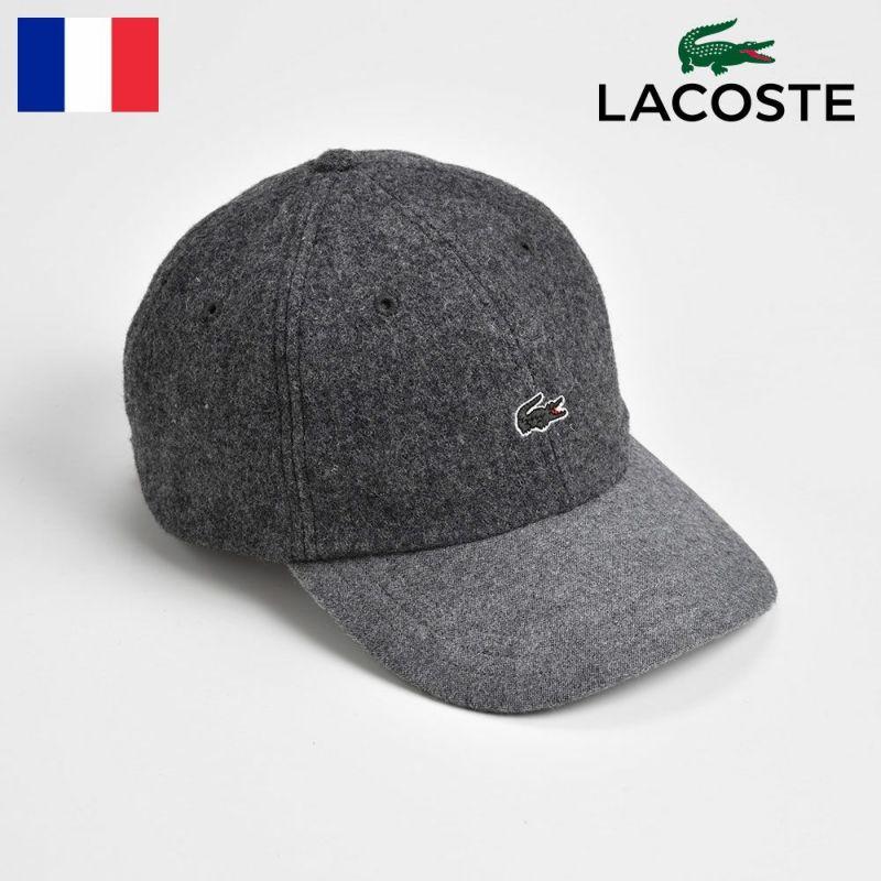 帽子 キャップ LACOSTE(ラコステ) MELTON WOOL 6PANEL CAP(メルトンウール 6パネルキャップ) L1124 グレー