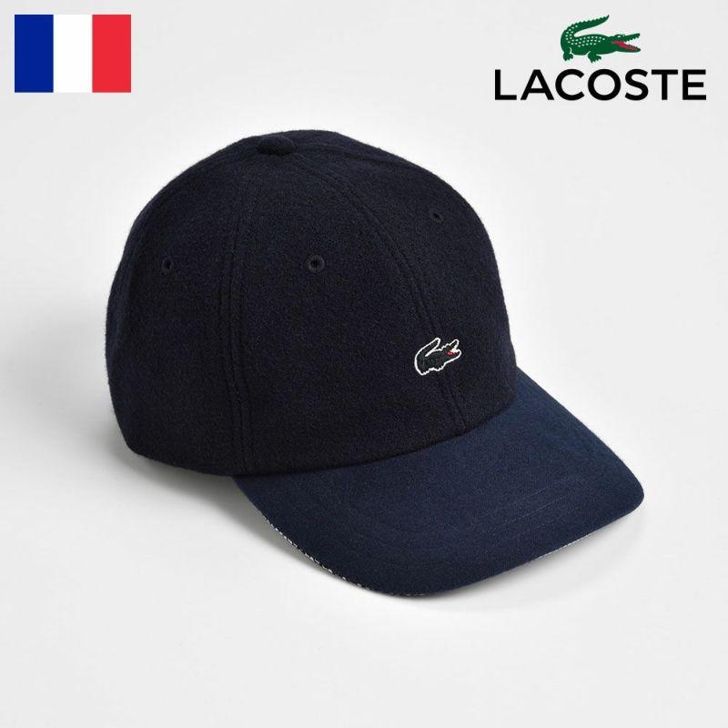 帽子 キャップ LACOSTE(ラコステ) MELTON WOOL 6PANEL CAP(メルトンウール 6パネルキャップ) L1124 ネイビー