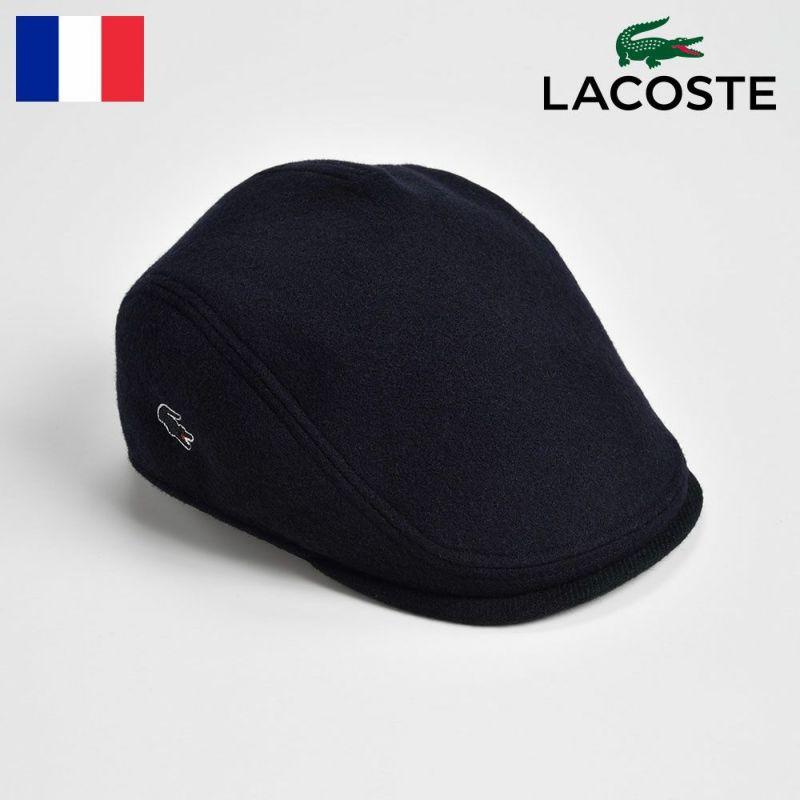 帽子 ハンチング LACOSTE(ラコステ) MELTON WOOL HUNTING(メルトンウールハンチング) L1076 ネイビー