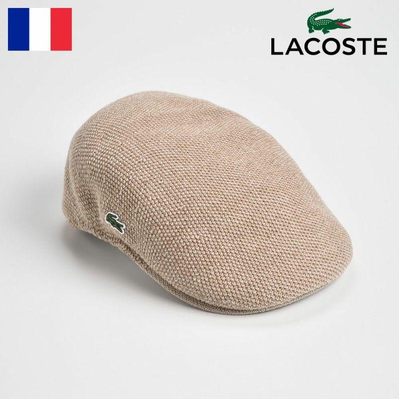 帽子 ハンチング LACOSTE(ラコステ) THERMO KNIT HUNTING(サーモニットハンチング) L3420 ベージュ