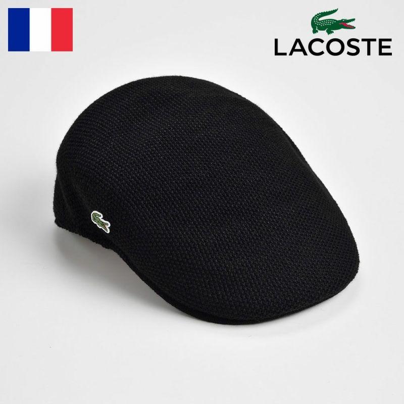帽子 ハンチング LACOSTE(ラコステ) THERMO KNIT HUNTING(サーモニットハンチング) L3420 ブラック