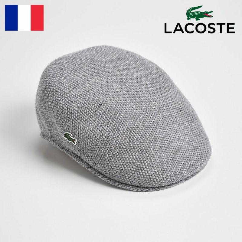 帽子 ハンチング LACOSTE(ラコステ) THERMO KNIT HUNTING(サーモニットハンチング) L3420 グレー