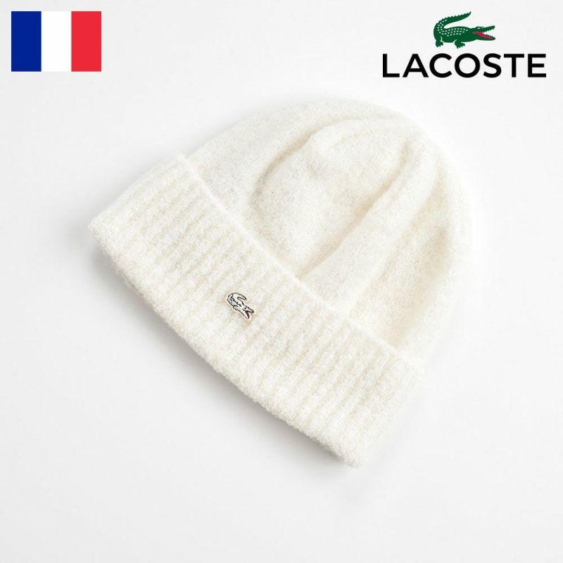 帽子 ニット LACOSTE(ラコステ) BOUCLE KNIT WATCH(ブークレニットワッチ) L7064 オフホワイト