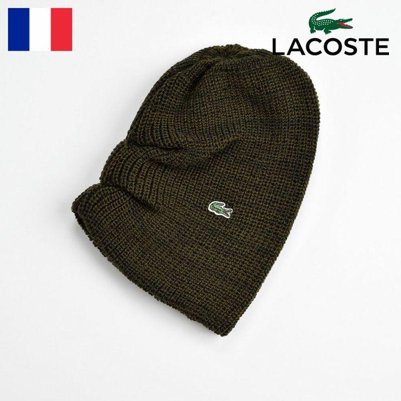 帽子 ニット LACOSTE(ラコステ) WOOL KNIT WATCH(ウールニットワッチ) L3434 カーキ