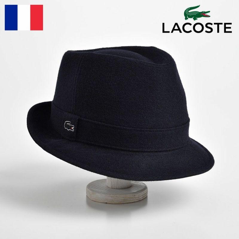 帽子 ハット LACOSTE(ラコステ) MANISH MELTON WOOL HAT(マニッシュ メルトンウールハット) L1077 ネイビー