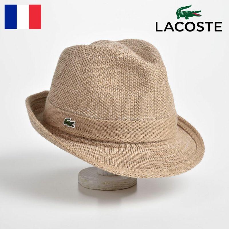 帽子 ハット LACOSTE(ラコステ) MANISH THERMO KNIT HAT(マニッシュ サーモニットハット) L3419 ベージュ