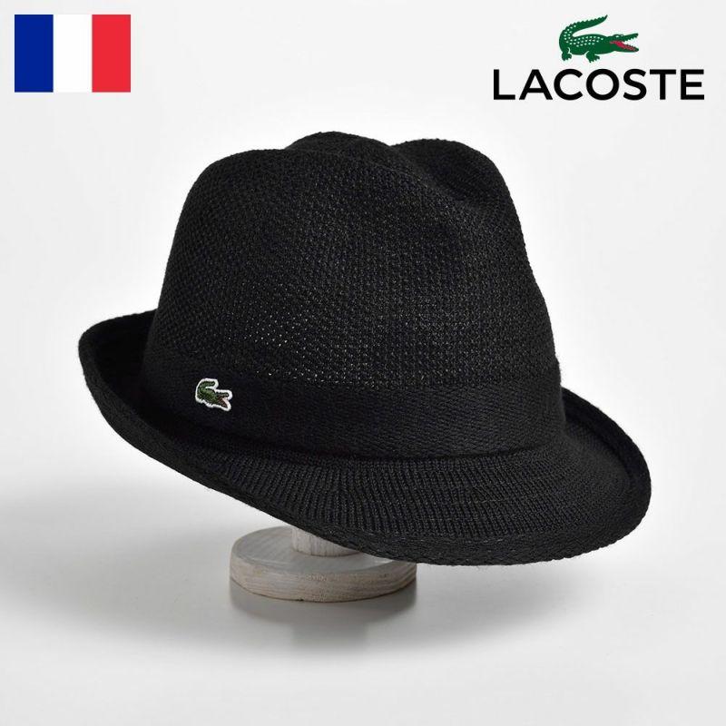 帽子 ハット LACOSTE(ラコステ) MANISH THERMO KNIT HAT(マニッシュ サーモニットハット) L3419 ブラック