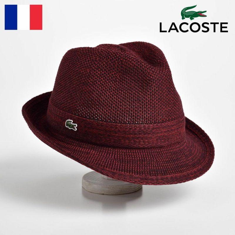 帽子 ハット LACOSTE(ラコステ) MANISH THERMO KNIT HAT(マニッシュ サーモニットハット) L3419 ボルドー