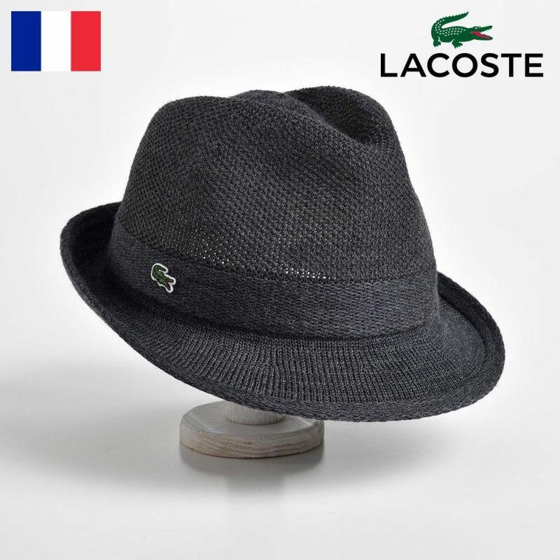 帽子 ハット LACOSTE(ラコステ) MANISH THERMO KNIT HAT(マニッシュ サーモニットハット) L3419 チャコールグレー