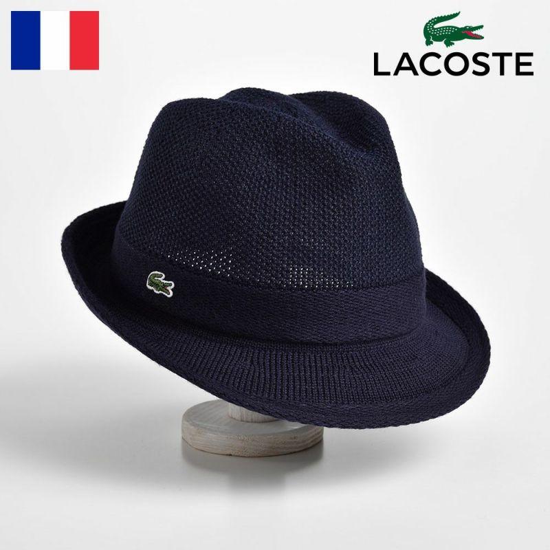 帽子 ハット LACOSTE(ラコステ) MANISH THERMO KNIT HAT(マニッシュ サーモニットハット) L3419 ネイビー