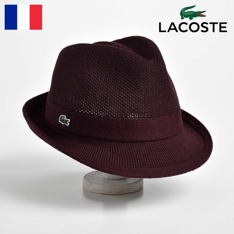 帽子 ハット LACOSTE(ラコステ) MANISH THERMO KNIT HAT(マニッシュ サーモニットハット) L3419 ワイン