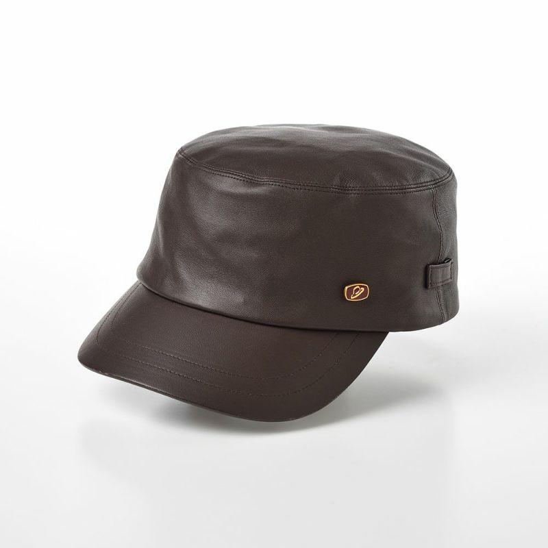 帽子 レザーキャップ Borsalino(ボルサリーノ) Sheep Leather Cap(シープレザー キャップ) BX616 ブラウン