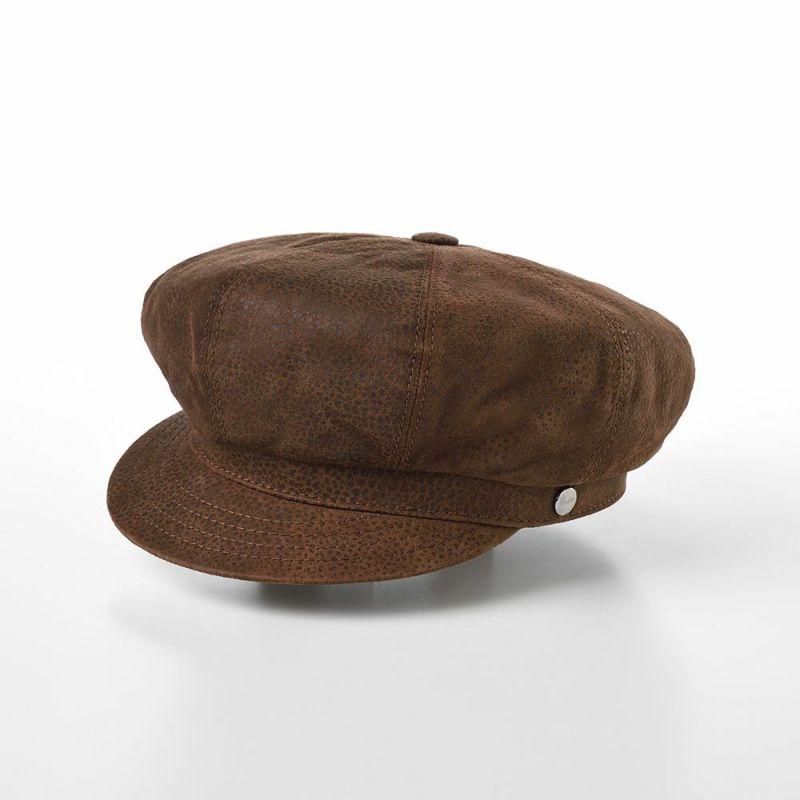 帽子 マリンキャップ Borsalino(ボルサリーノ) Sheep Leather Marinecap(シープレザー マリンキャップ) B45073Q ブラウン