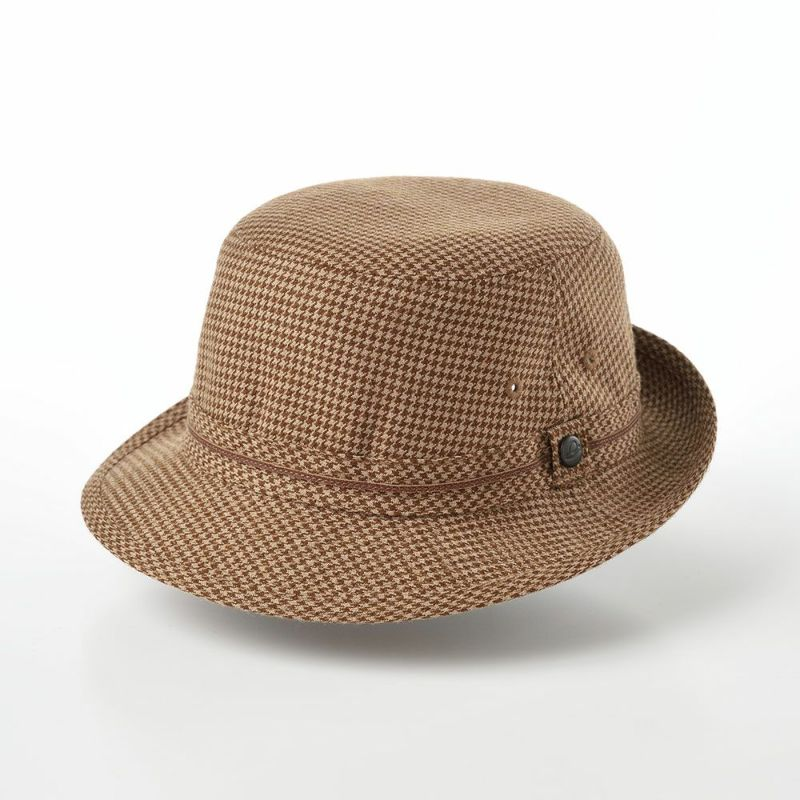 帽子 ソフトハット Borsalino(ボルサリーノ) 千鳥格子 アルペン B5279 ブラウン