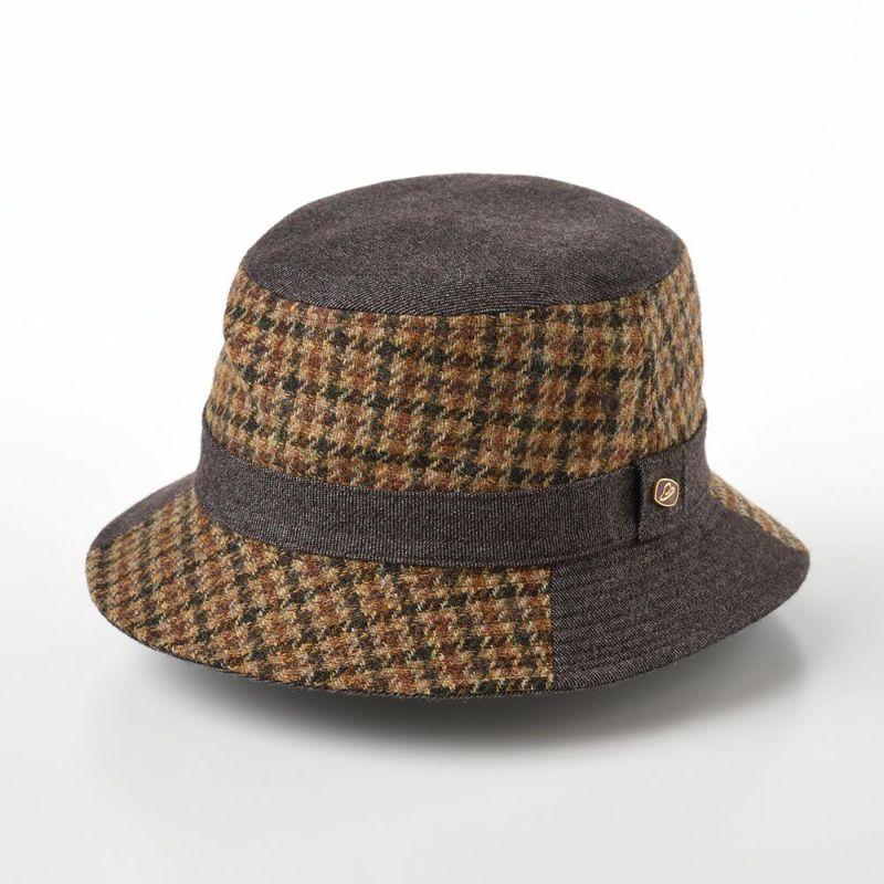 帽子 ソフトハット Borsalino(ボルサリーノ) Safari Patchwork(サファリパッチワーク) BS360 グレー