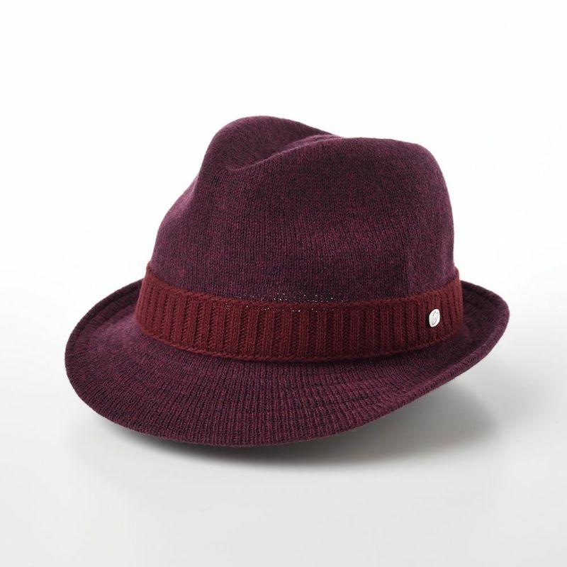 帽子 ソフトハット Borsalino(ボルサリーノ) Wool Mix Thermo Knit(ウールミックス サーモニット) BS634 ワインレッド