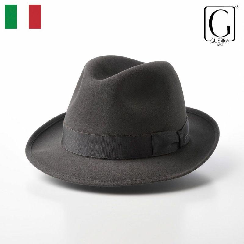 帽子 フェルトハット GUERRA(ゲラ) Rabbit Fur Hat(ラビットファー ハット) G004 グレー