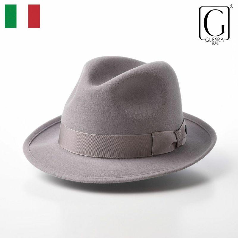 帽子 フェルトハット GUERRA(ゲラ) Rabbit Fur Hat(ラビットファー ハット) G004 ライトグレー