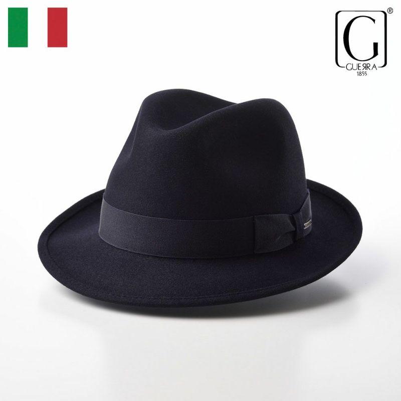 帽子 フェルトハット GUERRA(ゲラ) Rabbit Fur Hat(ラビットファー ハット) G004 ネイビー