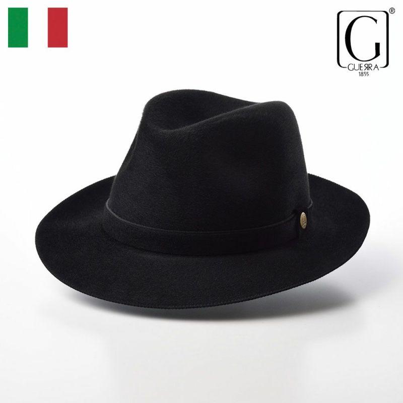 帽子 フェルトハット GUERRA(ゲラ) Cashmere Hat(カシミヤ ハット) G015 ブラック