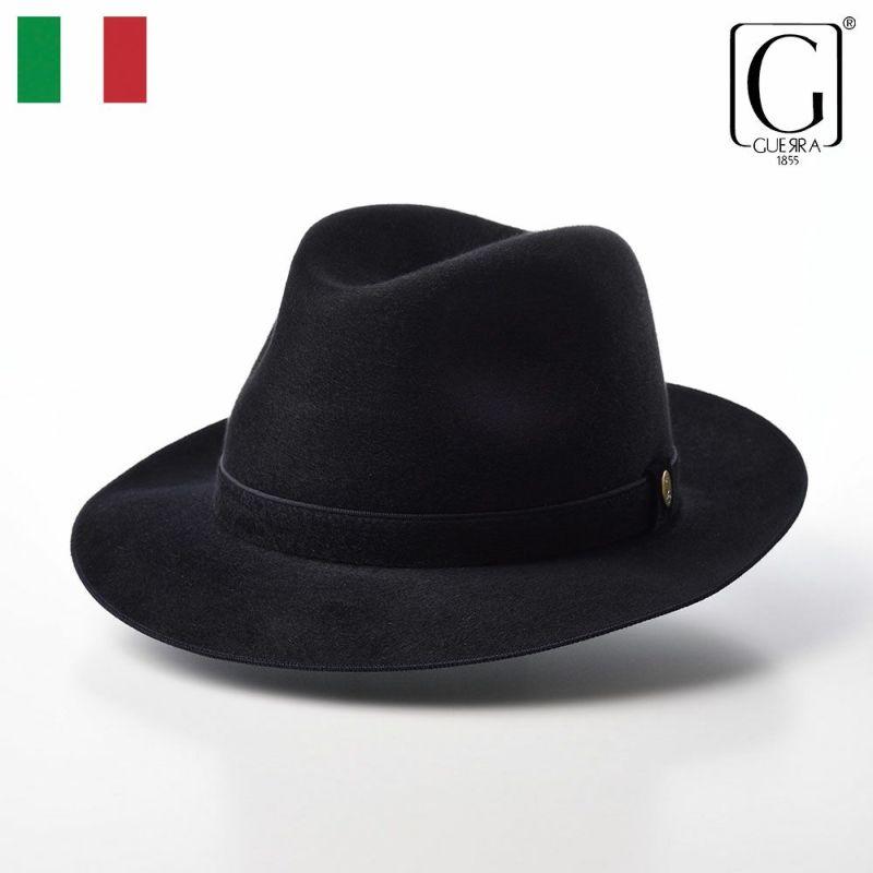 帽子 フェルトハット GUERRA(ゲラ) Cashmere Hat(カシミヤ ハット) G015 ネイビー