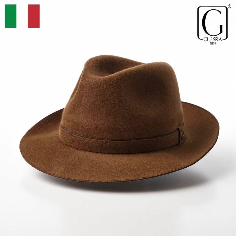 帽子 フェルトハット GUERRA(ゲラ) Cashmere Hat(カシミヤ ハット) G015 オレンジ