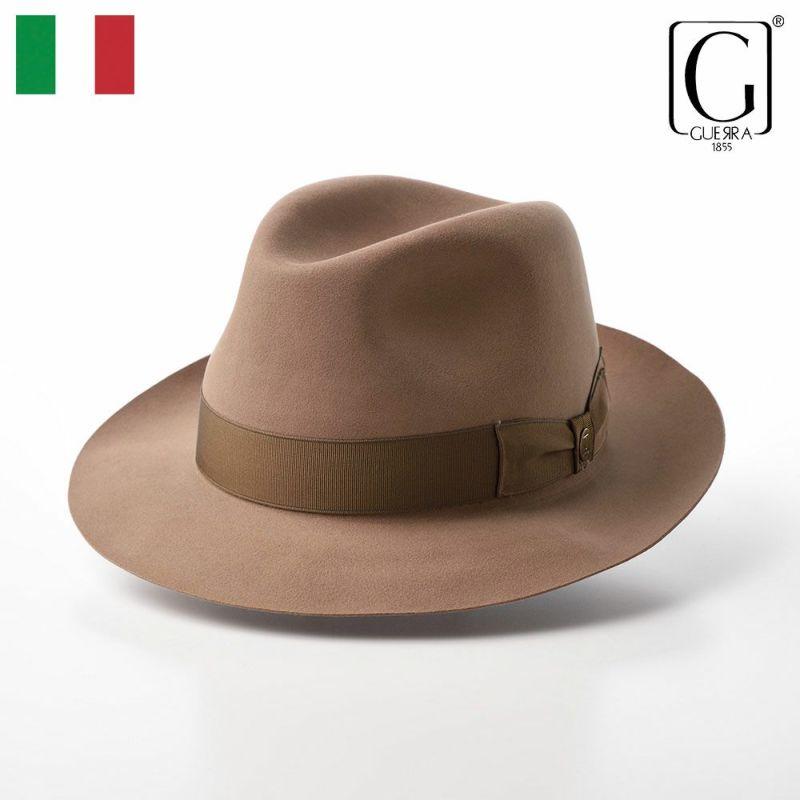 帽子 フェルトハット GUERRA(ゲラ) Beaver Fur Hat(ビーバーファー ハット) G016 ベージュ