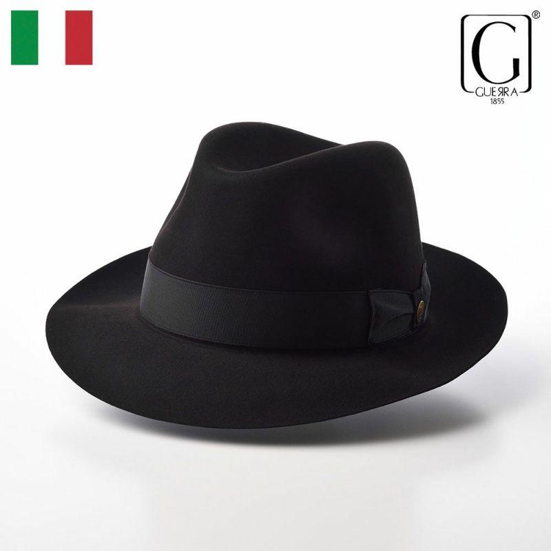帽子 フェルトハット GUERRA(ゲラ) Beaver Fur Hat(ビーバーファー ハット) G016 ブラック