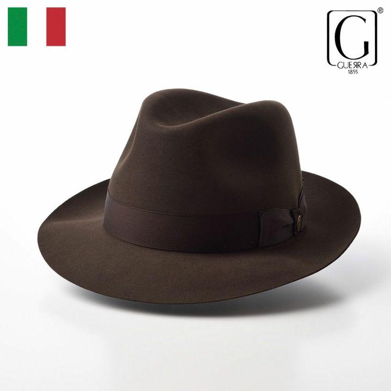 帽子 フェルトハット GUERRA(ゲラ) Beaver Fur Hat(ビーバーファー ハット) G016 ブラウン