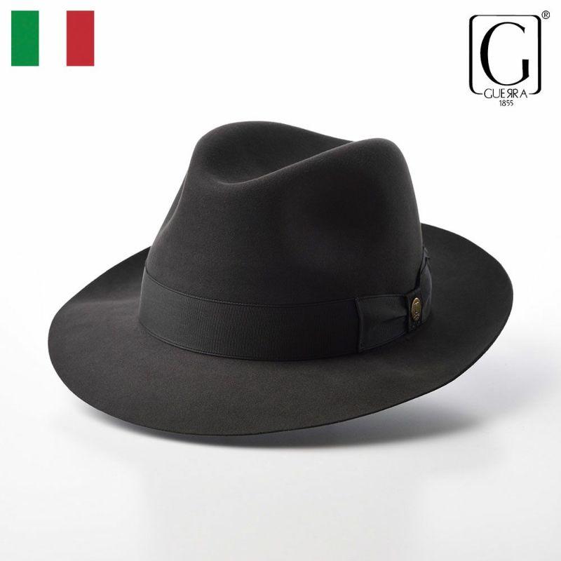 帽子 フェルトハット GUERRA(ゲラ) Beaver Fur Hat(ビーバーファー ハット) G016 グレー
