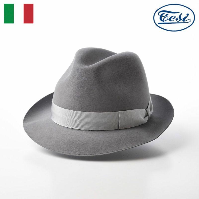 帽子 フェルトハット TESI(テシ) Beaver Fur Hat(ビーバーファー ハット) T1661 グレー