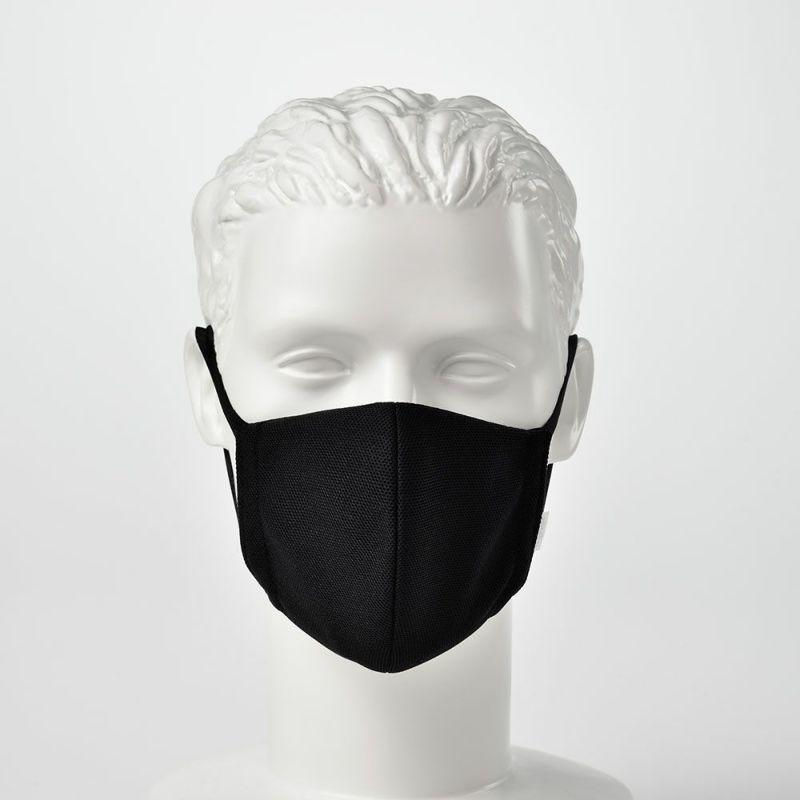 日本製 マスク 制菌・消臭・洗えるエリプリ布マスク ブラック