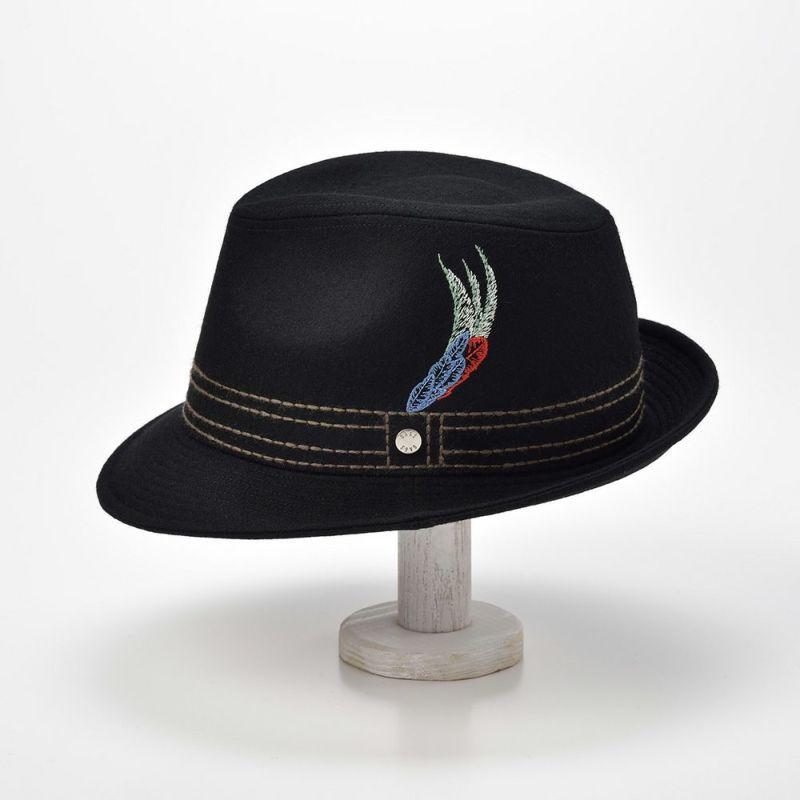New Lescaut Feather Embroidery(ニューレスコー フェザーエンブロイダリー) D0008 ブラック
