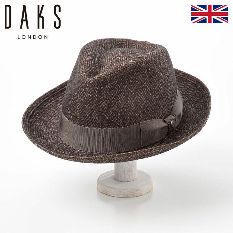 帽子 ハット DAKS(ダックス) SaintPaul Herringbone(セントポール ヘリンボン) D3655 ブラウン