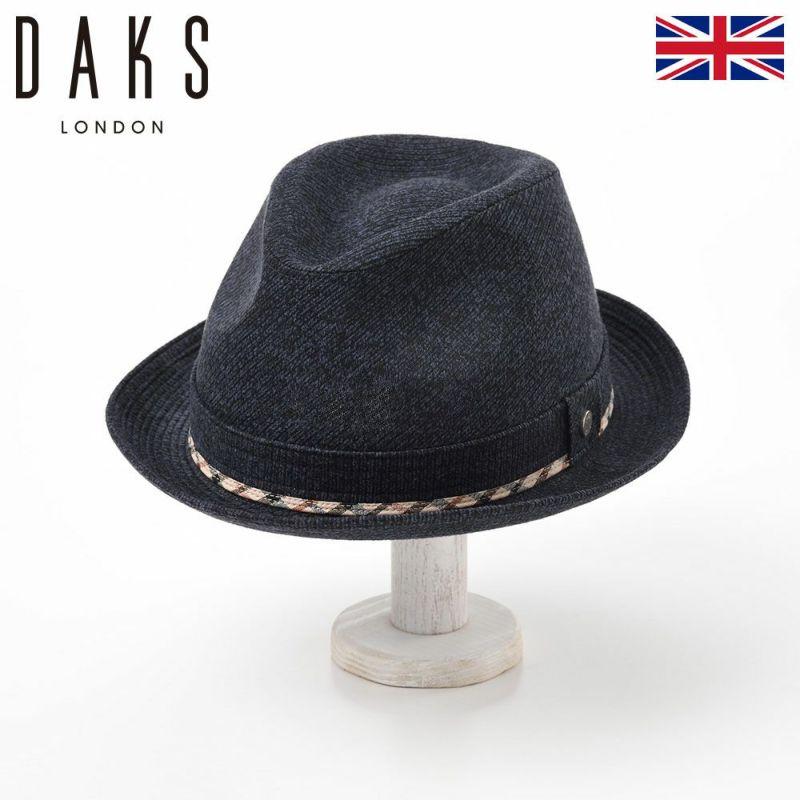 帽子 ハット DAKS(ダックス) New Lescaut JS(ニューレスコー ジャガードスエード) D3670 ネイビー