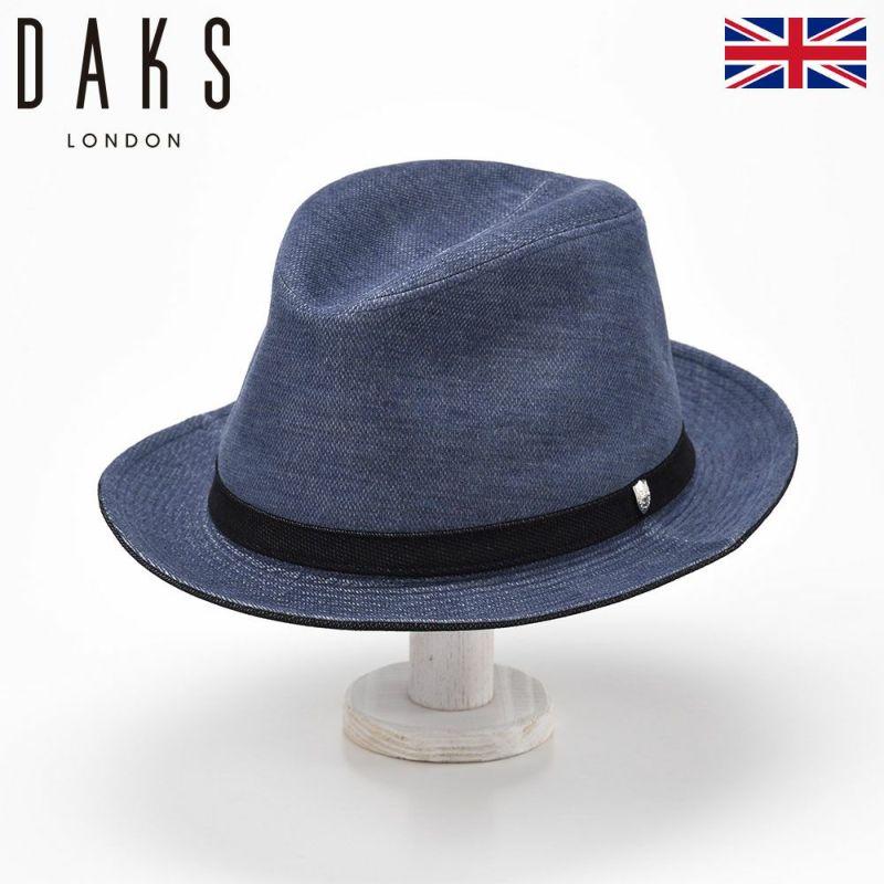 帽子 ハット DAKS(ダックス) Manish Dobby Corde(マニッシュ ドビーコール) D3717 ブルー