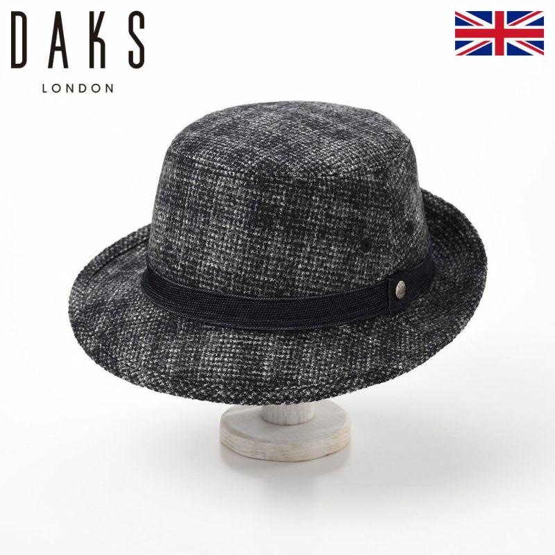 帽子 ハット DAKS(ダックス) Alpen Check Dobby Corde(アルペン チェックドビーコール) D3721 ブラック