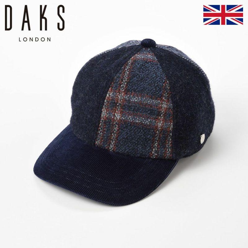 帽子 キャップ DAKS(ダックス) Cap Patchwork(キャップ パッチワーク) D3767 ネイビー