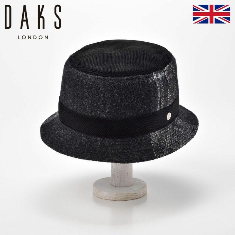 帽子 ハット DAKS(ダックス) Safari Patchwork(サファリ パッチワーク) D3768 ブラック