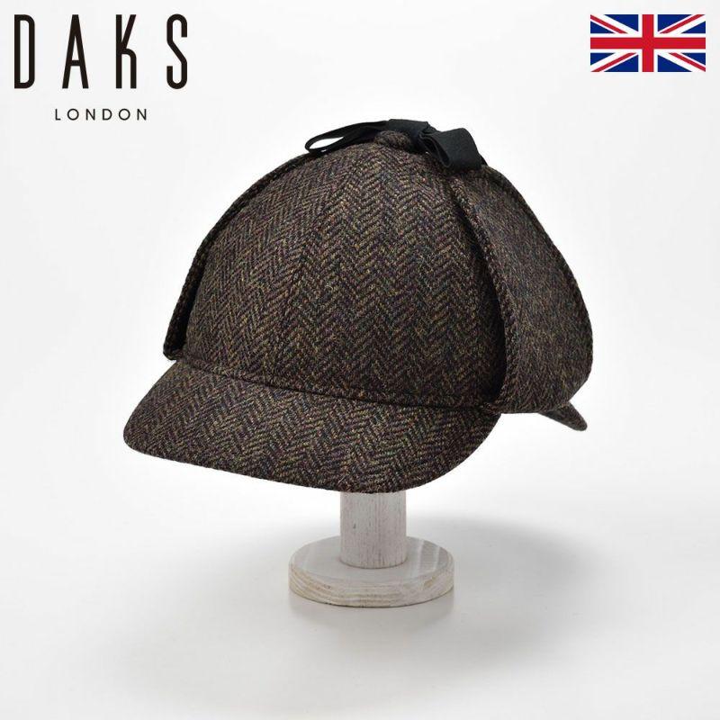 帽子 ニット DAKS(ダックス) Sherlock Herringbone(シャーロック ヘリンボン) D3772 カーキ