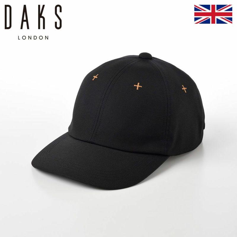 帽子 キャップ DAKS(ダックス) Cap Weather Cloth(キャップ ウェザークロス) D3803 ブラック