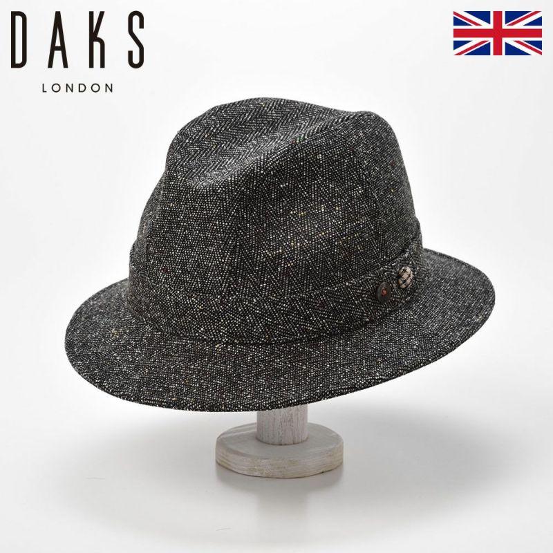 帽子 ハット DAKS(ダックス) Safari Herringbone(サファリ ヘリンボン) D3804 ブラック