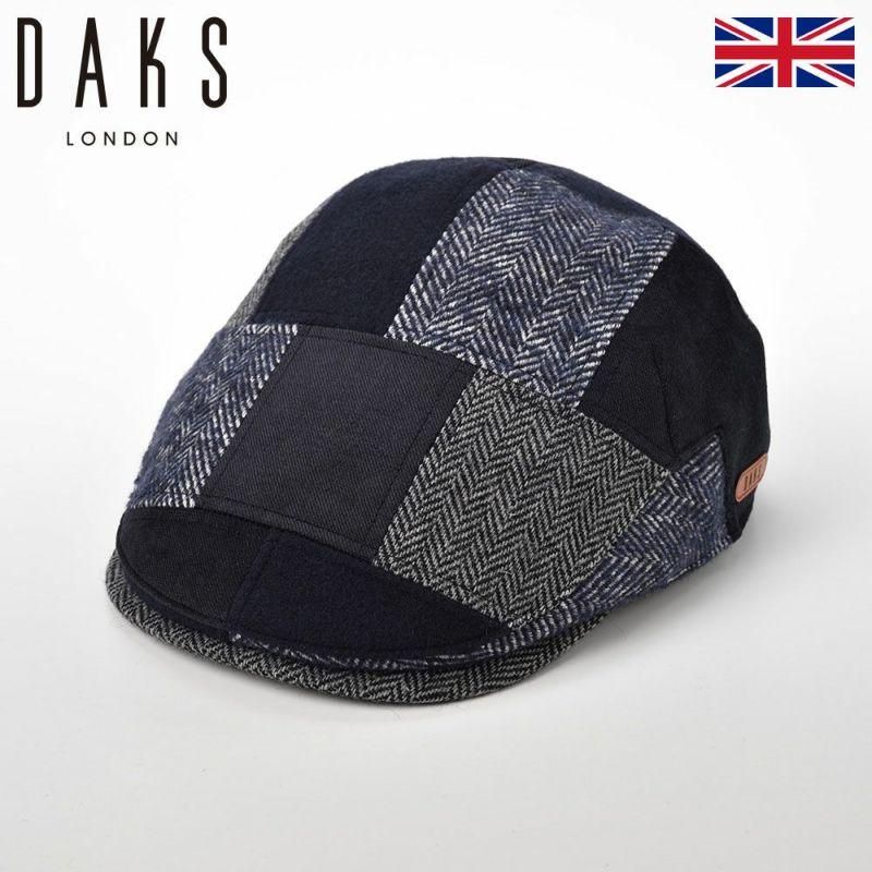 帽子 ハンチング DAKS(ダックス) Hunting Patchwork(ハンチング パッチワーク) D3835 ネイビー