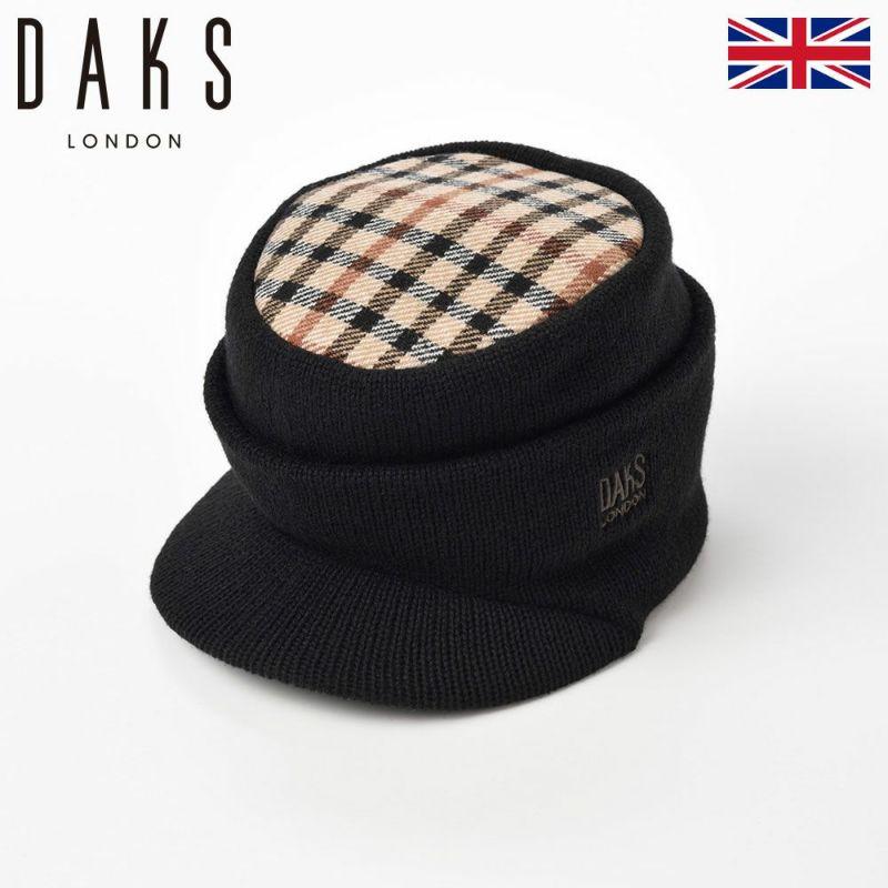 帽子 キャップ DAKS(ダックス) Cap Oslo(キャップ オスロ) D5511 ブラック